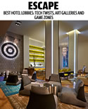 Australia's Escape Magazine lists Hotel Zetta in their picks for the World's Best Hotel Lobbies